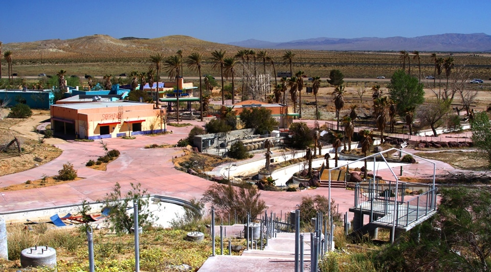 The remnants of Rock-A-Hoola Waterpark