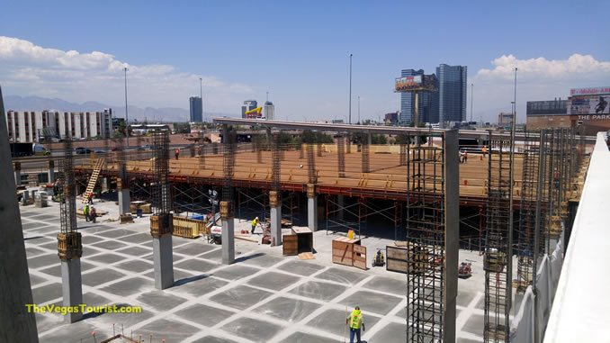 The T-Mobile Arena Parking Garage Growing Quickly