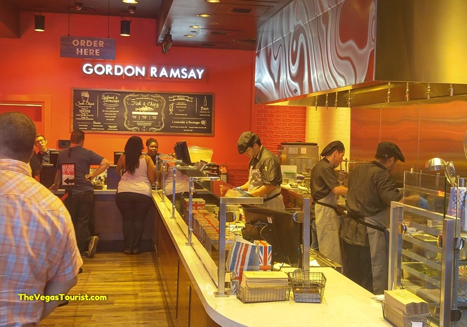 Gordon ramsay opens a new fish and chips shop in las vegas for Gordon ramsay las vegas fish and chips