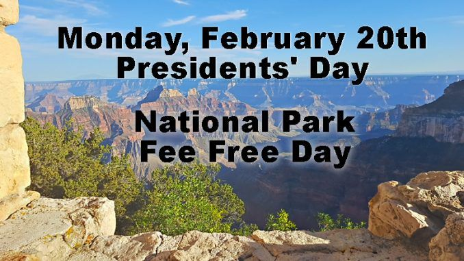 National Parks Fee free Day Las Vegas