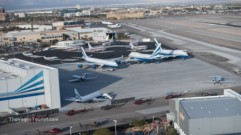 fly over Sheldon Adelson hanger and area 51 jets