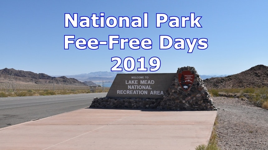 National Park Entrance fee free days in 2019