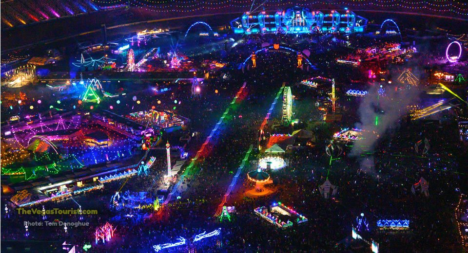 EDC Las Vegas at night