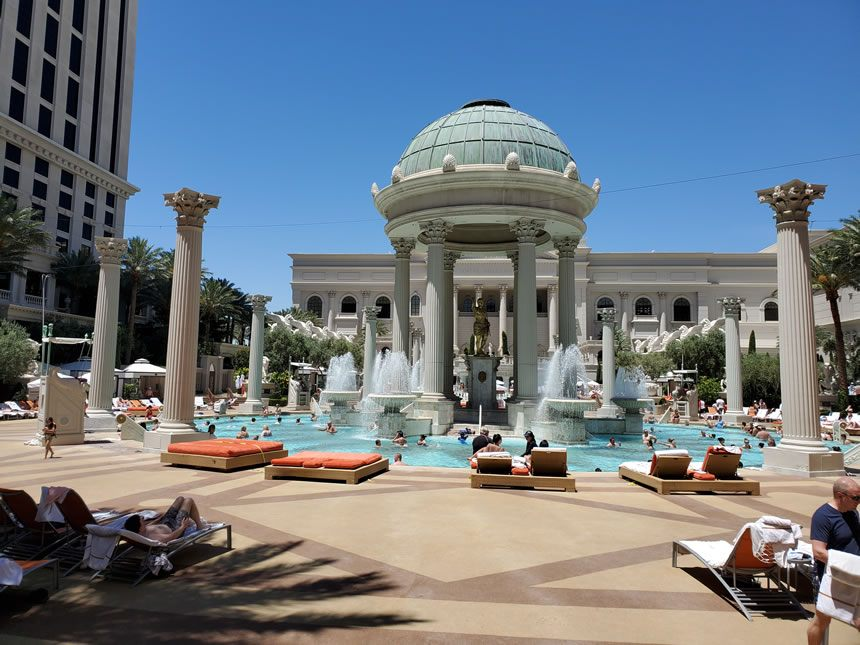 The Pools at Caesars Palace las Vegas