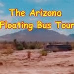 Arizona Bus flash flood floating