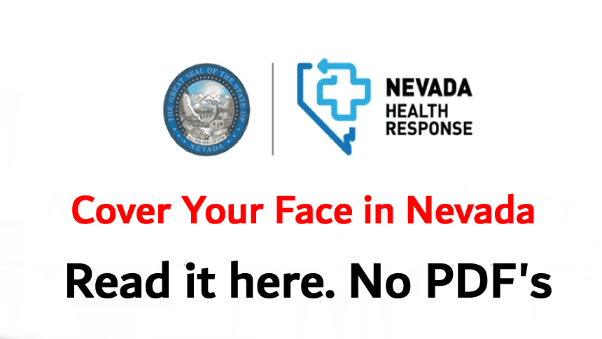The directive mandating wearing of Face Coverings in Nevada