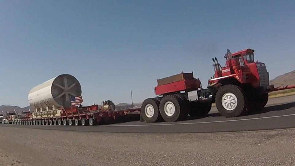 Moving a Nuclear Reactor Down a Nevada Highway